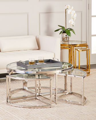 Majestic Golden Side Table Set  and Matching Items