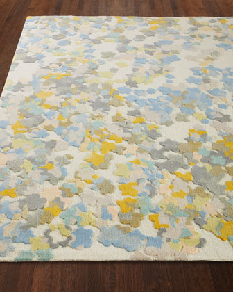 Flowers Hand-Tufted Rug  5' x 8'  and Matching Items