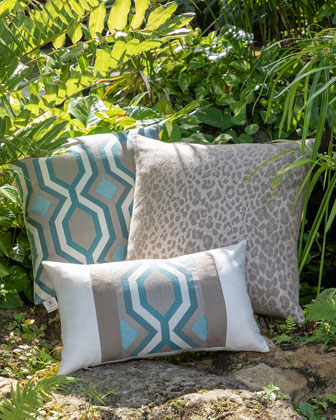 Geo Sunbrella Pillow  and Matching Items