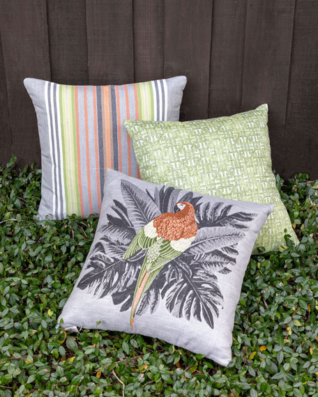 Spring Stripe Sunbrella Pillow