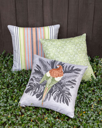 Spring Stripe Lumbar Sunbrella Pillow  and Matching Items