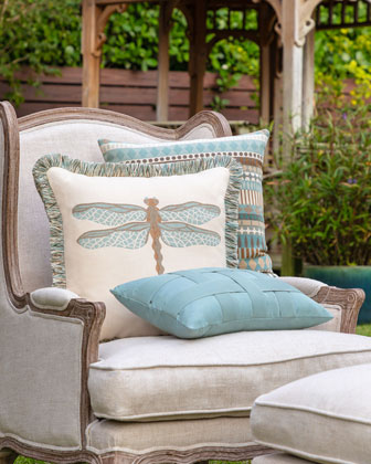 Basketweave Lumbar Sunbrella Pillow  and Matching Items