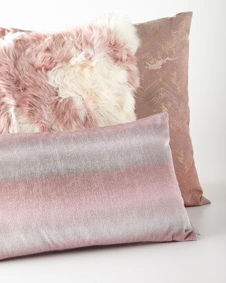 Rose Quartz Zigzag Pillow