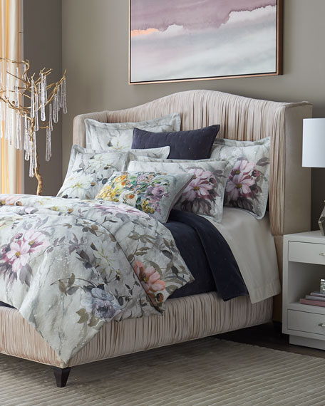Fresco Fiore Platinum King Duvet