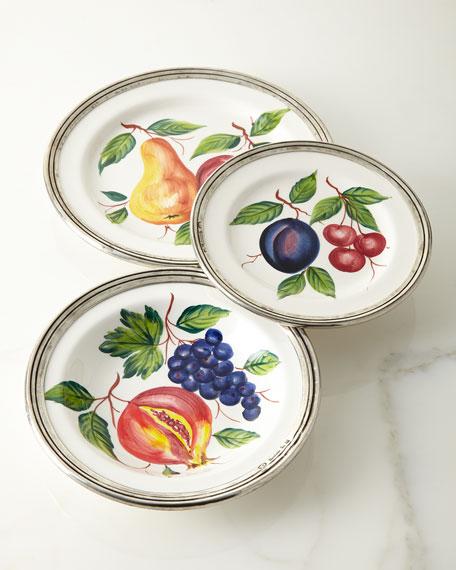 Fruit Pewter & Ceramic Dinner Plate