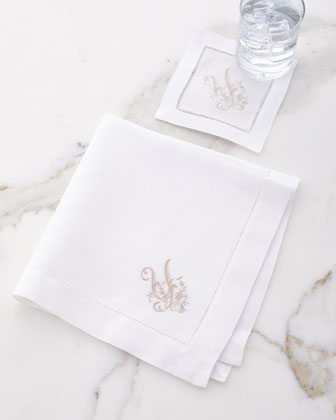 Mono Cocktail Napkins  Set of 4  and Matching Items