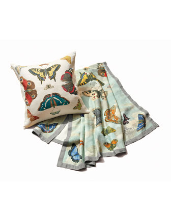 Mirrored Butterflies Sky Throw and Matching Items
