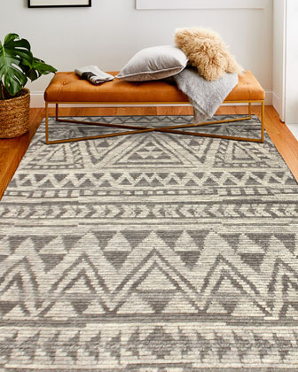 Questa Hand-Knotted Rug  8' x 10'  and Matching Items