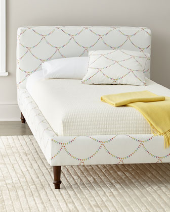 Bunting Scallop Twin Platform Bed  and Matching Items