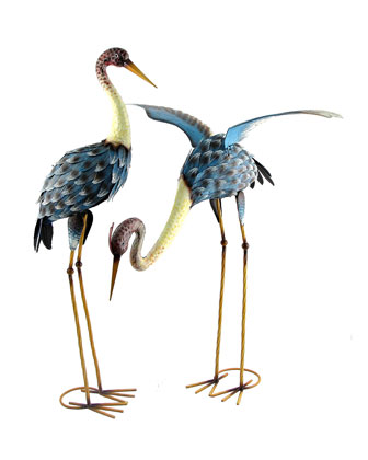 30 Painted Blue Cranes  Set of 2 and Matching Items