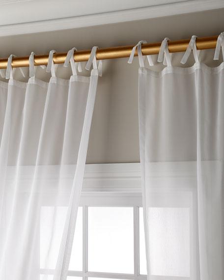 "Carolina Sheer Tie Top Curtain Panel, 108"""