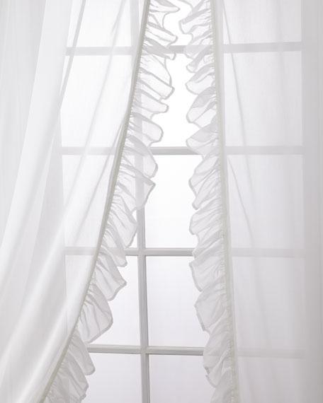 """Carolina Sheer Ruffle Curtain Set, 108"""""""