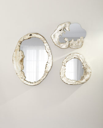 Organic Shape Large Mirror  and Matching Items