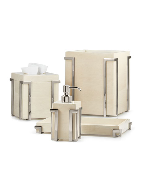Embrace Ash Chrome Tissue Box Cover