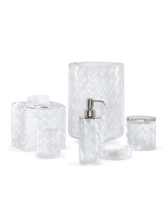 Basket Weave Pump Dispenser   and Matching Items