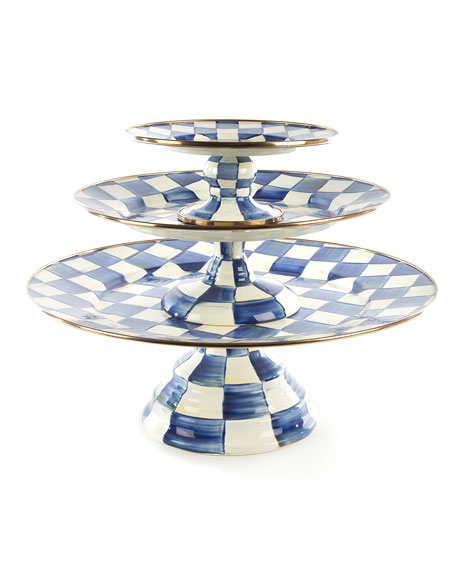 Royal Check Pedestal Platter