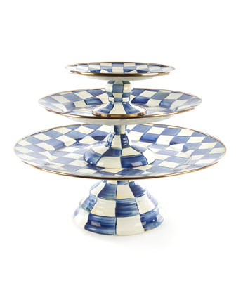 Royal Check Pedestal Mini Platter  and Matching Items