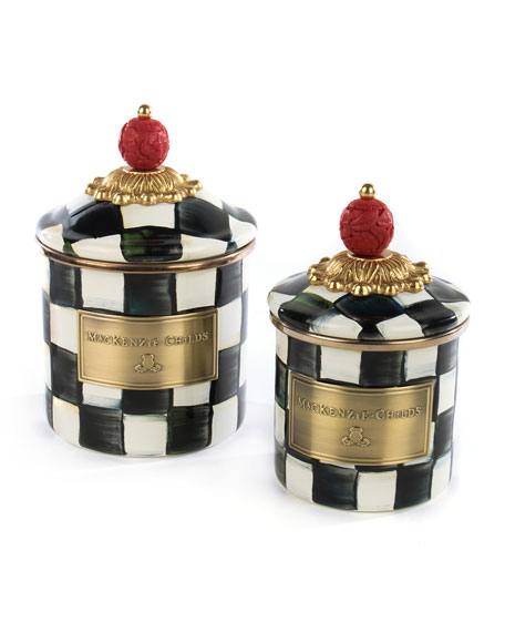 Courtly Check Mini Enamel Canister