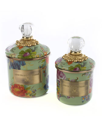 Flower Market Green Mini Canister  and Matching Items