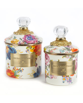 Flower Market White Mini Canister  and Matching Items