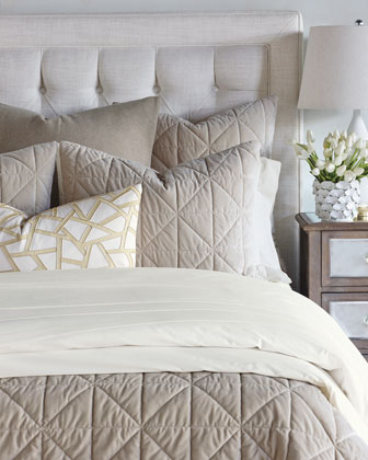 Nova Queen Quilted Velvet Coverlet  and Matching Items