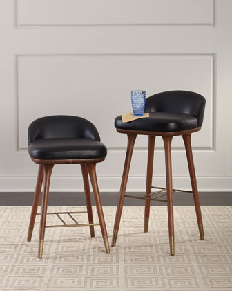 Beaumont Leather Bar Stool  and Matching Items