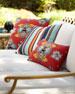 Tropical Bee Lumbar Sunbrella Pillow