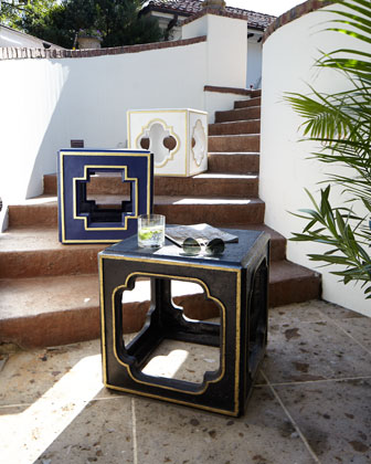 Outdoor Accent Table and Matching Items