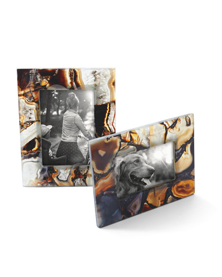 "Rich Brown Clear Agate Picture Frame, 5"" x 7"""