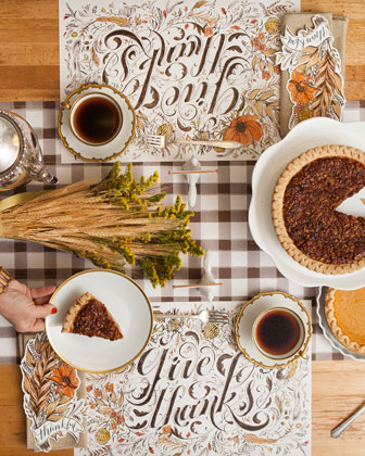 Give Thanks Table Setting Decor Collection  and Matching Items