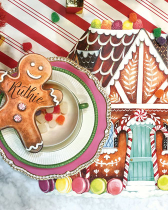 Gingerbread Table Setting Decor Collection  and Matching Items
