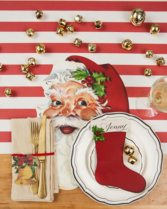 Santa Table Setting Decor Collection  and Matching Items