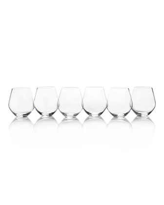 Gianna White Wine Glasses  Set of 6  and Matching Items