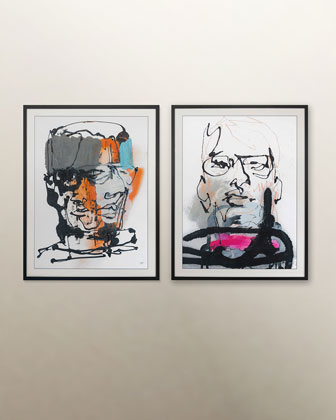 Blind Portraits 6 Giclee  and Matching Items