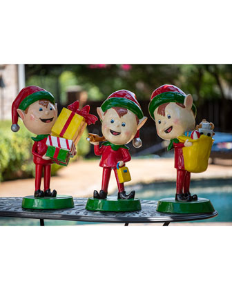 Live Form Elf with Toy Outdoor Christmas Decoration  30  and Matching Items