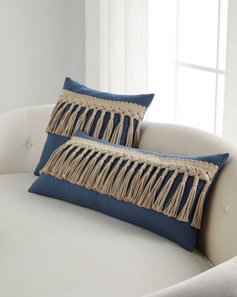 Tuscany Cleo Tassel-Trim Decorative Pillow  15 x 36  and Matching Items