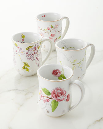 Berry & Thread Floral Sketch Wysteria Mug