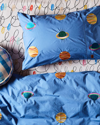 Kids' Spaced Out Cotton Duvet Cover - Twin and Matching Items