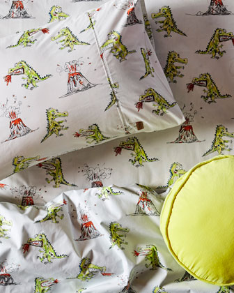 Kids' Dino Roar Cotton Duvet Cover  - Twin and Matching Items