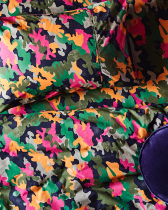 Kids' Camo Pink Cotton Duvet Cover  - Twin and Matching Items