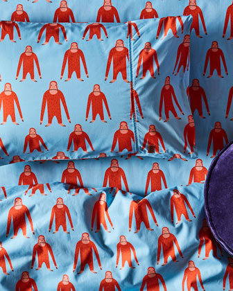 Kids' Save The Orangutans Cotton Duvet Cover - Twin and Matching Items