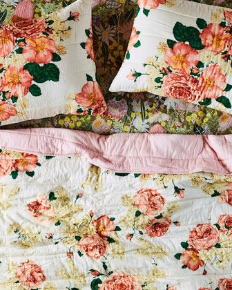 Bed Of Roses Quilted Bedspread Comforter - King and Matching Items