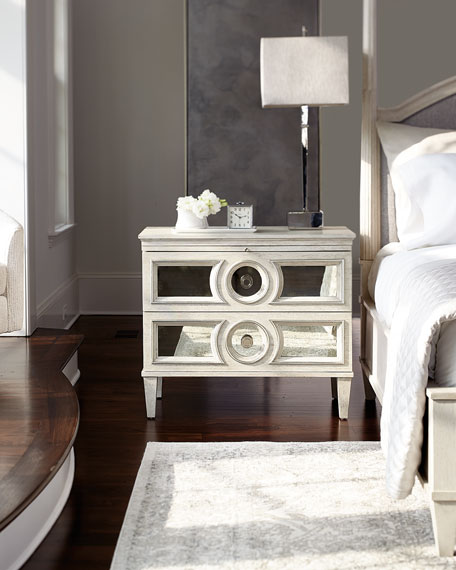 Allure Metal Chairside Table