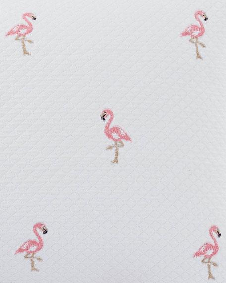 Flamingo European Matelasse Full/Queen Coverlet