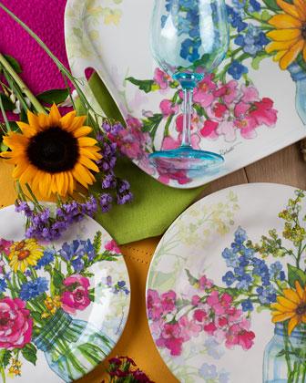 Jars of Sunshine Bamboo Salad Plates  Set of 4  and Matching Items