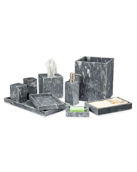 Eris Collection Cloud Gray Marble Tissue Box