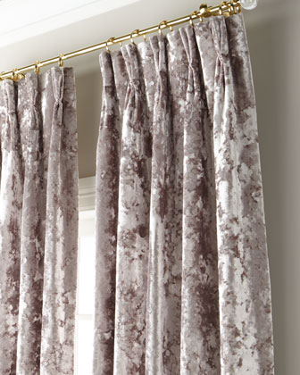 Crushed Velvet 3-Fold Pinch Pleat Curtain with Blackout Lining  132 and Matching Items