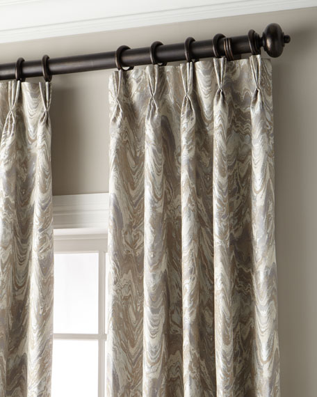 Forester 3-Fold Pinch-Pleat Curtain with Blackout Lining, 120