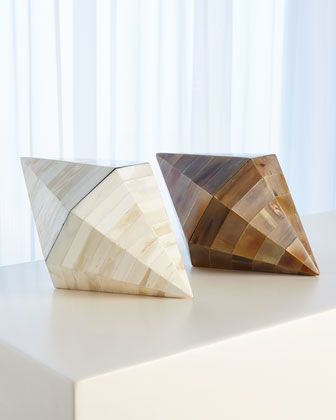 Triangle Cone White Bone Box  and Matching Items