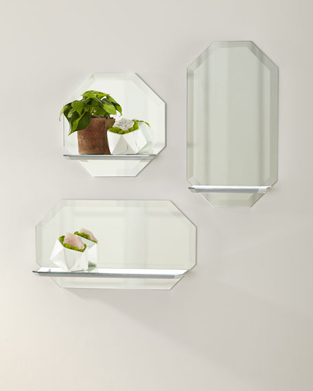 Octagon Wall Shelf Mirror - Horizontal